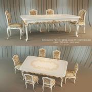 Tavolo da pranzo Venezia in stile Luigi XV 3d model