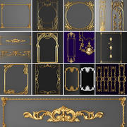 Collection stucco molding frame 3d model
