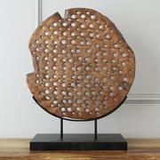 Dekoracja drewniana Natura na stojaku 3d model