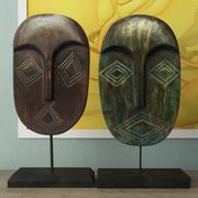 Ozdoba Albesia Wood Mask 3d model