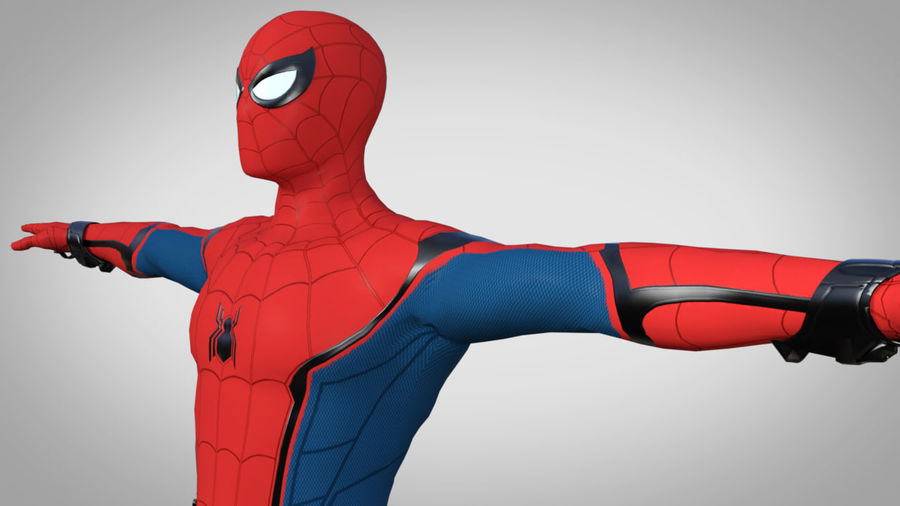 Spider-Man Homecoming royalty-free 3d model - Preview no. 6