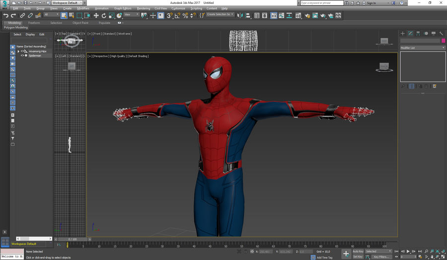 Spider-Man Homecoming royalty-free 3d model - Preview no. 5
