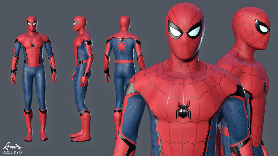 Spider-Man Homecoming royalty-free 3d model - Preview no. 1