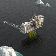 Plataforma petrolera costa afuera Ivar Aasen modelo 3d