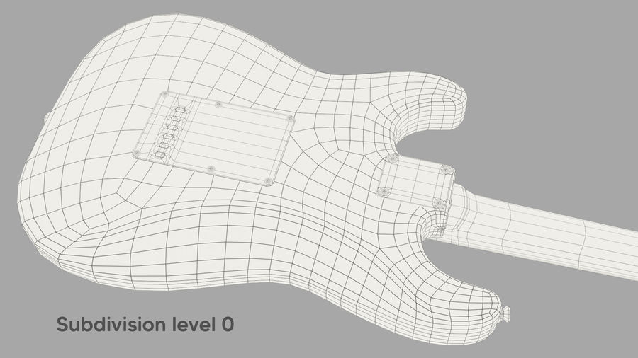 Fender Stratocaster Electric Guitar royalty-free 3d model - Preview no. 13