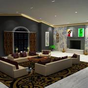 salón interior modelo 3d