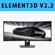E3D - Monitor curvo Dell UltraSharp 38 U3818DW 3D 3d model