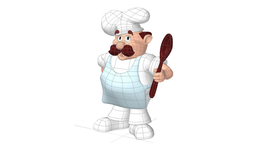 Chef Character royalty-free 3d model - Preview no. 4
