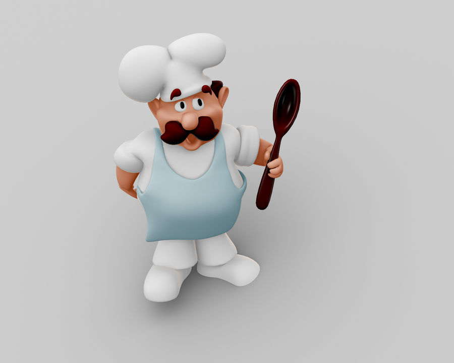 Chef Character royalty-free 3d model - Preview no. 2