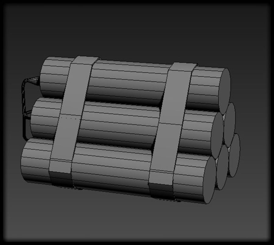 Dynamite Explosive royalty-free 3d model - Preview no. 4