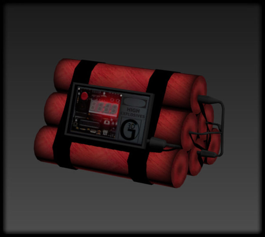 Dynamite Explosive royalty-free 3d model - Preview no. 1