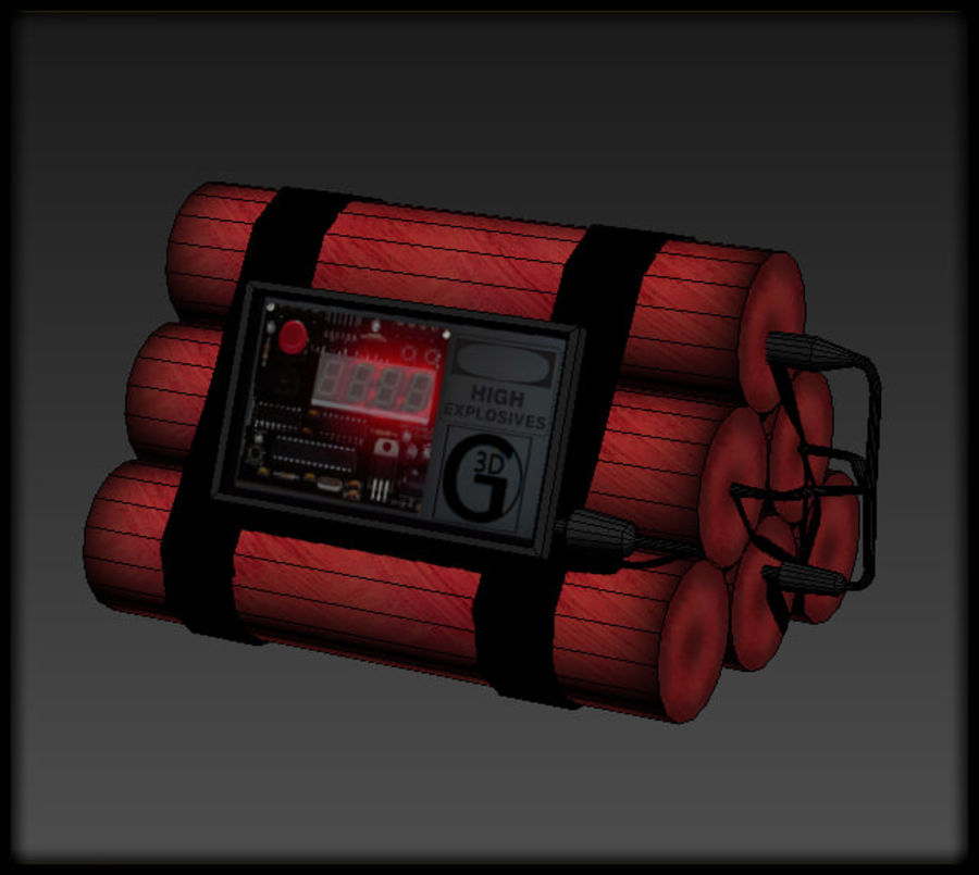 Dynamite Explosive royalty-free 3d model - Preview no. 2