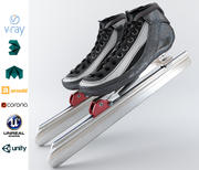 Конькобежный спорт 3d model