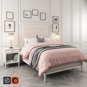 Maelin Döşemeli Yatak 3d model