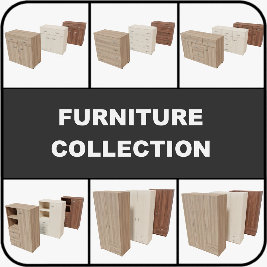Collection de meubles royalty-free 3d model - Preview no. 1