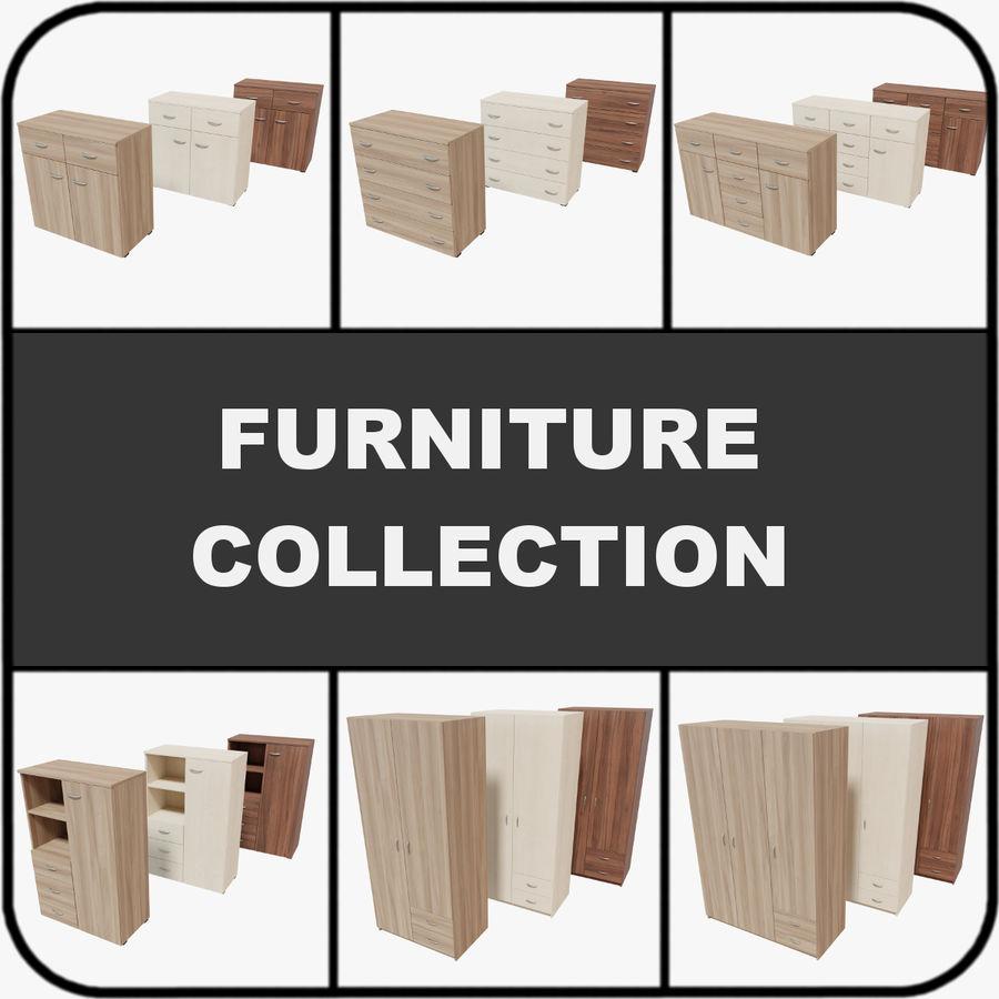 Collection de meubles royalty-free 3d model - Preview no. 1