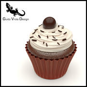 Chocolate Cupcake 3d model