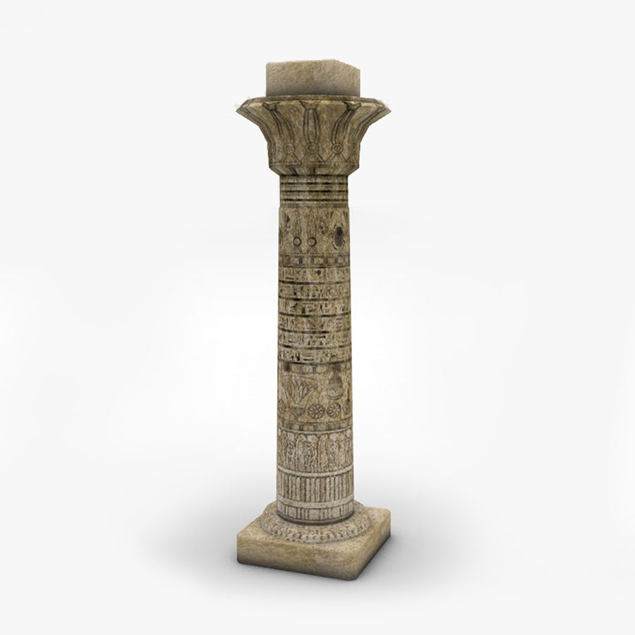 Ancient Egyptian pillar royalty-free 3d model - Preview no. 1