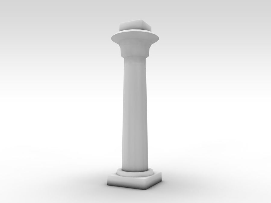 Ancient Egyptian pillar royalty-free 3d model - Preview no. 9