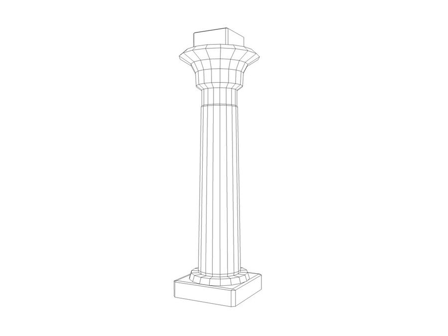 Ancient Egyptian pillar royalty-free 3d model - Preview no. 10