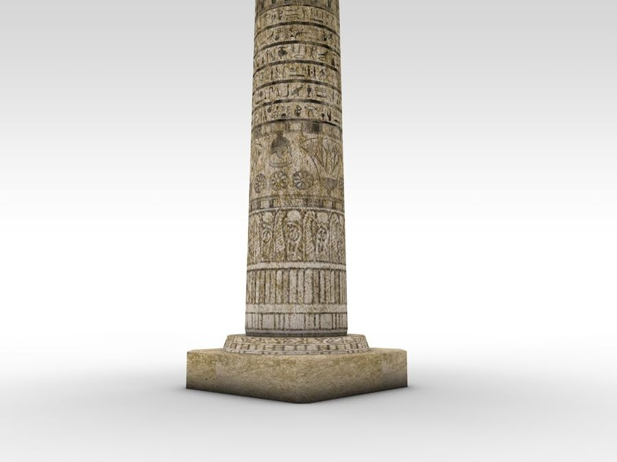 Ancient Egyptian pillar royalty-free 3d model - Preview no. 6