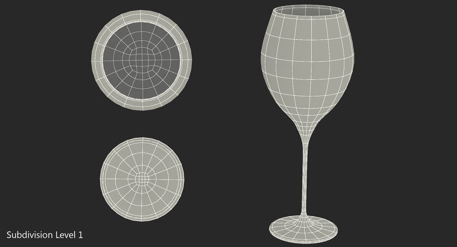 Бокал для вина royalty-free 3d model - Preview no. 12