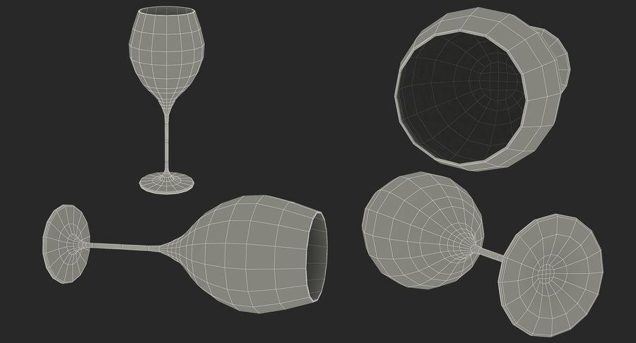 Бокал для вина royalty-free 3d model - Preview no. 18