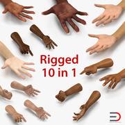Collection de mains truquées 3d model