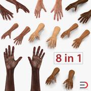 Man Hands 3D Models Collection 3d model