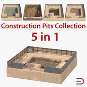 施工坑3D模型收藏 3d model