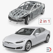 Tesla Model S i kolekcja ramek 3d model