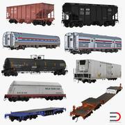 Coleção de vagões ferroviários 3d model