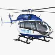 Eurocopter EC145 Deutscher Polizeihubschrauber 3d model