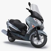 Скутер Мотоцикл Suzuki Burgman 200 Rigged 3d model