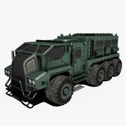 Camión de ciencia ficción modelo 3d