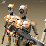 Научно-фантастический дроид 3d model