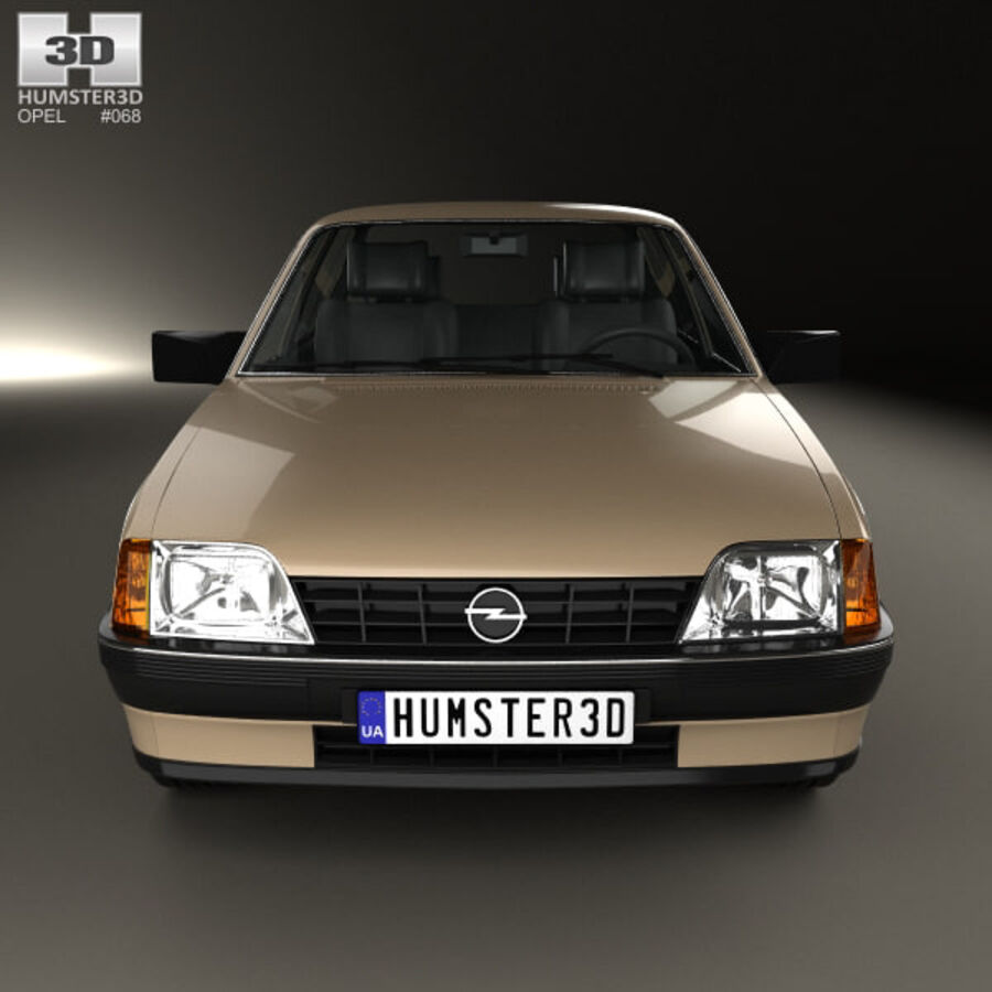 Opel Rekord 1982 royalty-free 3d model - Preview no. 10