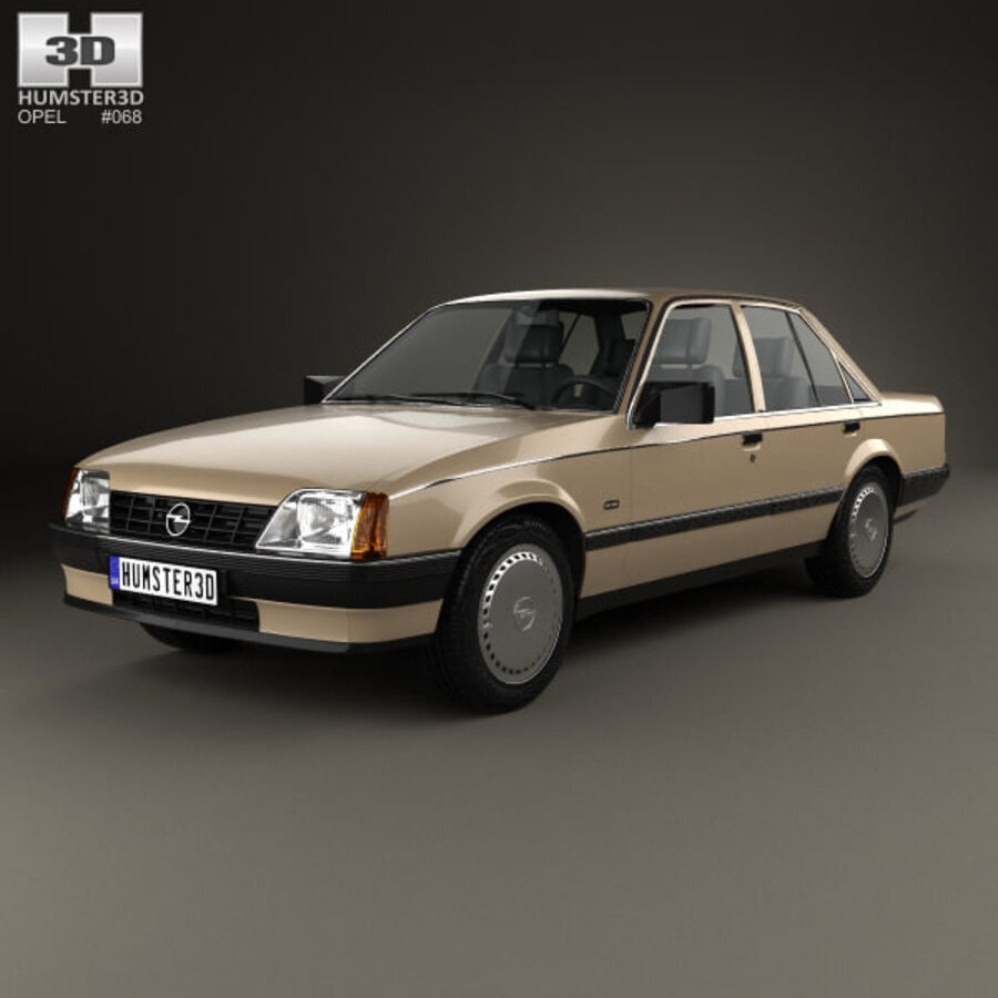 Opel Rekord 1982 royalty-free 3d model - Preview no. 1