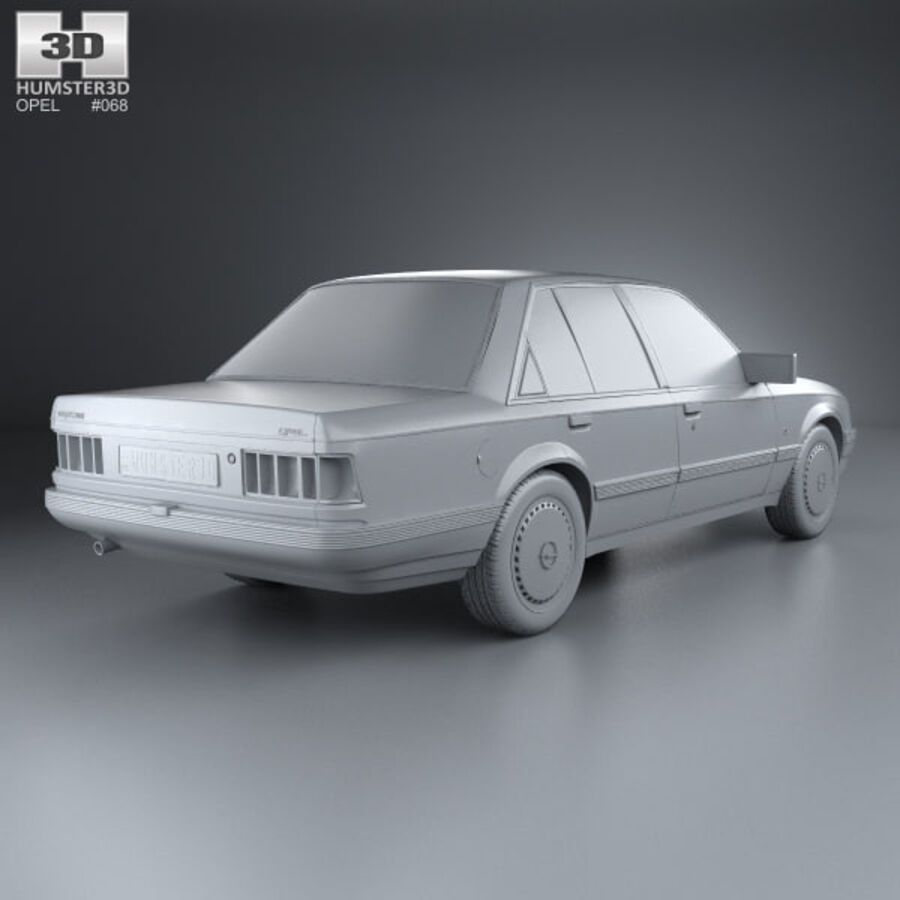 Opel Rekord 1982 royalty-free 3d model - Preview no. 12