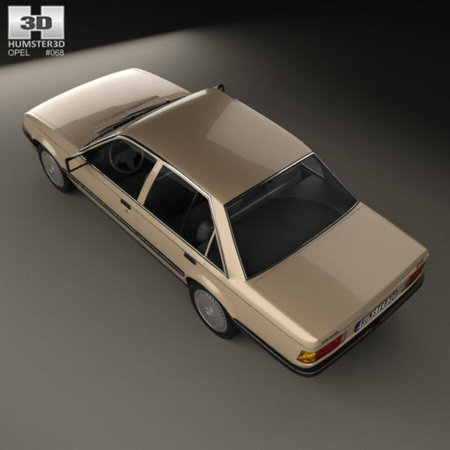 Opel Rekord 1982 royalty-free 3d model - Preview no. 9
