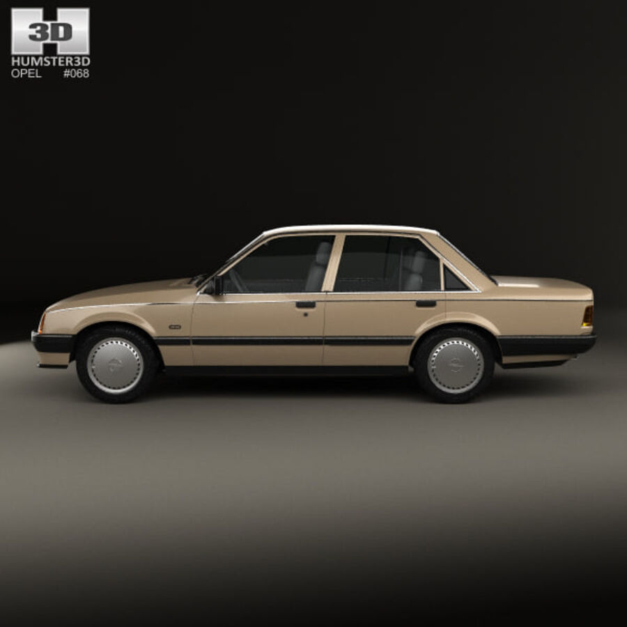 Opel Rekord 1982 royalty-free 3d model - Preview no. 5
