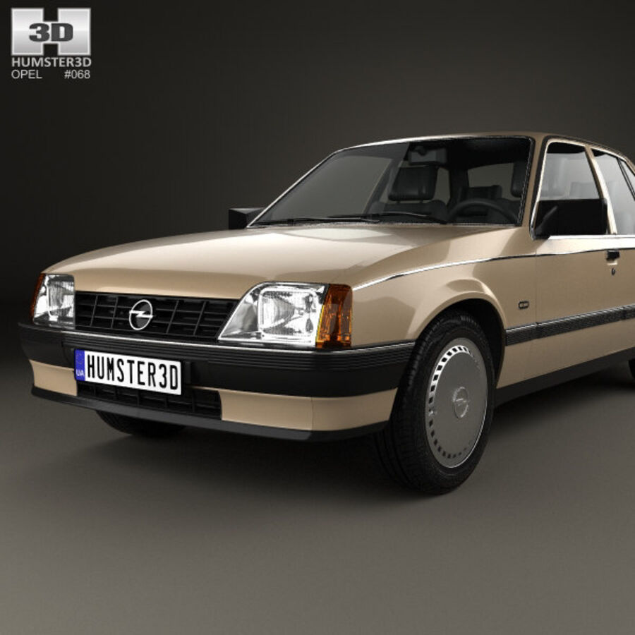 Opel Rekord 1982 royalty-free 3d model - Preview no. 6