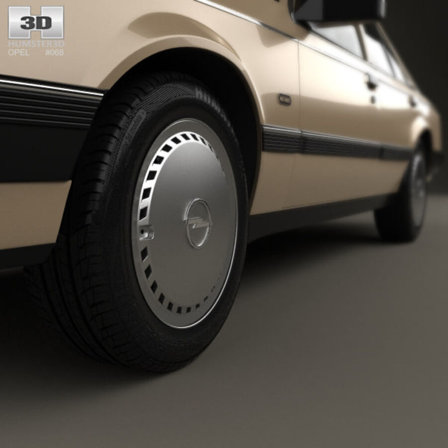 Opel Rekord 1982 royalty-free 3d model - Preview no. 8