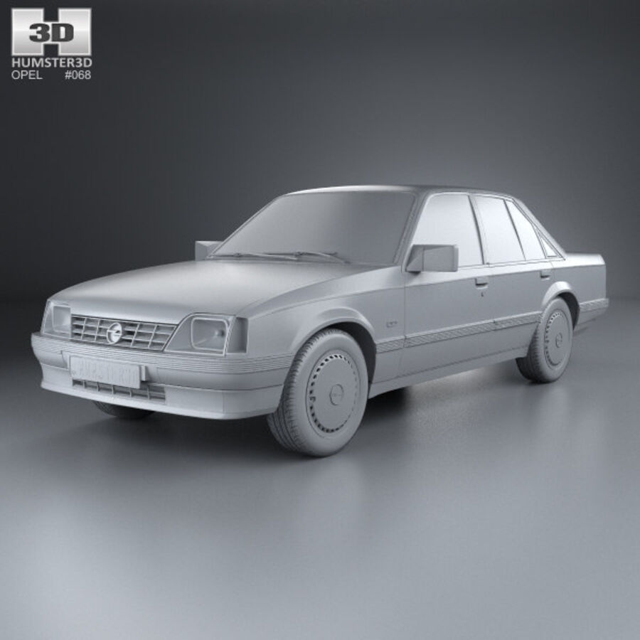 Opel Rekord 1982 royalty-free 3d model - Preview no. 11
