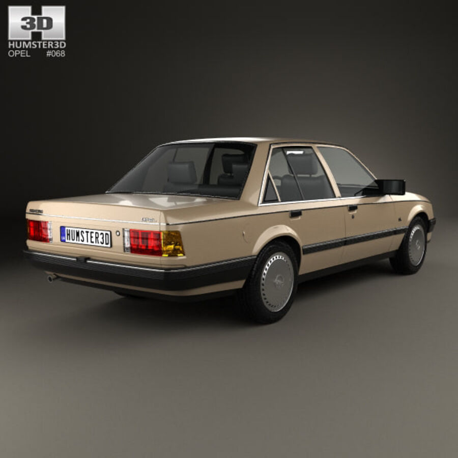 Opel Rekord 1982 royalty-free 3d model - Preview no. 2