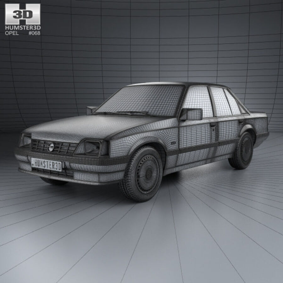 Opel Rekord 1982 royalty-free 3d model - Preview no. 3