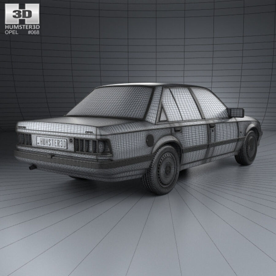 Opel Rekord 1982 royalty-free 3d model - Preview no. 4