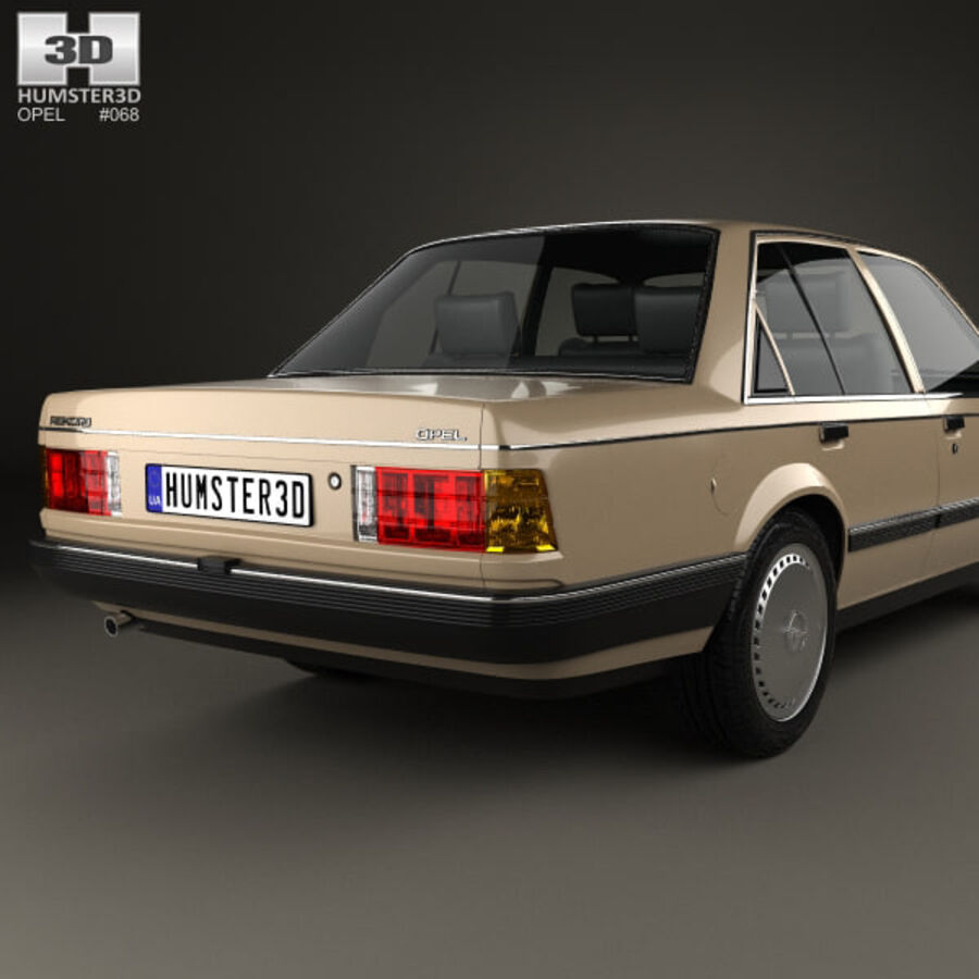 Opel Rekord 1982 royalty-free 3d model - Preview no. 7