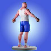 3D-karaktär för spel 3d model