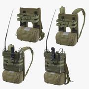 AN / PRC-77 휴대용 트랜시버 통신 라디오 팩 2 포즈 3d model